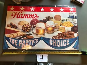Hamms Hamm's Beer Poster The Party's Choice, 30 x 20 4904 Olympia St. Paul,