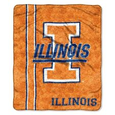"NCAA Football Basketball Illinois Fighting Illini 60"" Warm Plush Throw Blanket"