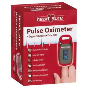 Heart Sure Pulse Oximeter. A320 Oxygen Saturation Pulse Rate FREE POSTAGE!