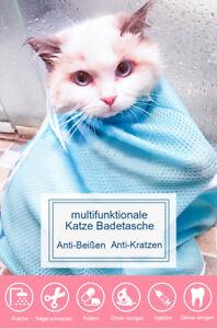 Calapet multifunktionale Katze Baden-Tasche für Anti-Beißen und Anti-Kratzen