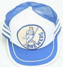 Brewers Vintage Baseball Hat Cap White Blue Adjustable Snapback One Size Fit All
