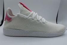 025919e18 PHARRELL WILLIAMS TENNIS HU SHOES Adidas PW Tennis HU White Pink Sz 9.5  BY8714