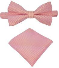 Fliege + Einstecktuch Schleife Querbinder Binder de Luxe 141 rosa Krawatten