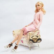 """Sherry 16"""" Fashion Royalty AvantGuard Poppy Parker Brass Doll Boots/Shoes 인형 신발"""