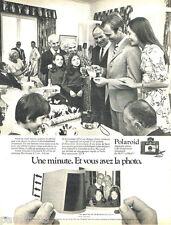 PUBLICITE ADVERTISING 085  1971  POLAROID  appareil photo COLORPACK 80