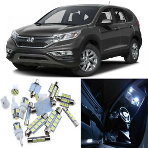 11pcs Xenon White Interior LED Light Package Kit for Honda CR-V 2013-2015