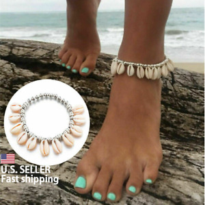 2020 Natural Barefoot Foot Jewelry Beads Shell Anklet Beach Sandals Ankle Chain