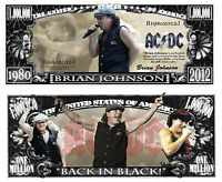 AC/DC BRIAN JOHNSON ! BILLET COLLECTION MILLION DOLLAR US! Hard Rock Heavy Metal