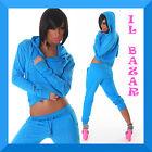sexy tuta donna completo strass felpa+pantalone 3 colori taglia S,M,L