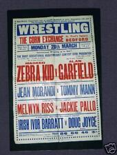 Very old wrestling poster Masked Zebra Kid Garfield