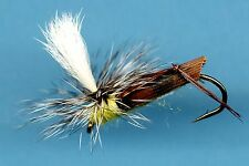 Olive Parachute Hopper Fly Fishing Flies - One Hook Size 6 Fly