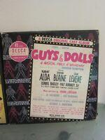 Orig Broadway Cast 45 Boxed 5  Record Set 1950 GUYS & DOLLS Decca 9-203 Alda