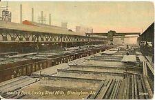 Loading Dock at Ensley Steel Mills Birmingham AL Postcard 1912