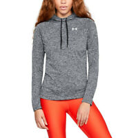 Under Armour Womens Tech Twist Hoodie Grey Sports Gym Hooded Breathable