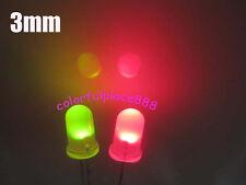 1000pcs 3mm Dual Bi Color Redgreen Led Diffused Leds Polar Changing 2 Pin Light
