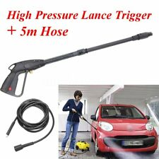 High Pressure Car Washer Lance Trigger Gun Adjustable Nozzle 5m Hose for Karcher