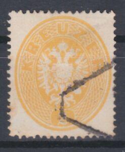 Ö 1863 ANK Nr. 24a Gestempelt Geprüft - Befund € 140,--