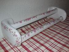 VINTAGE Porcelain BATH TOWEL RAILS HOLDER Porcelain of PARIS FLORAL pattern