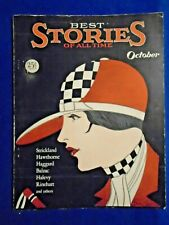 Best Stories Of All Time October 1925  Very Rare Higher Grade Copy