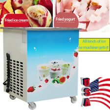 Single Pan Fried Ice Cream Roll Machine Milk Yogurt Maker Ice cream maker 1050W