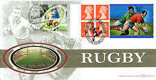 1 OCTOBER 1999 RUGBY LABEL BENHAM BLCS 168 DOUBLED WITH FRANCE FDC SHSs