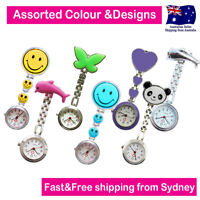 Nurse Watches Assorted Designs Chrome Pendant Pocket Watch for Nurse Pouch Bag