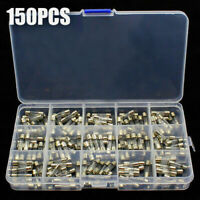 150pcs 5x20mm Quick Blow Electrical Glass Fuses Fast-Blow Acting Assorted Kit