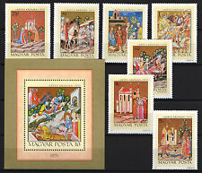 TWO IN ONE - HUNGARY 1971. PAINTINGS SET + SHEET GARNITURE MNH (**)