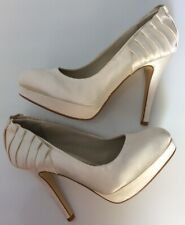 Next Occasion Uk4 Eu37 Ivory Cream Wedding Shoes Courts Platform Sole Worn Once