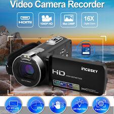 Digital 24MP 2.7'' TFT/LCD FHD 1080P Digital Video Camera Camcorder DV 16X Zoom