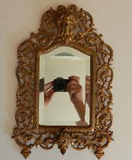 Antique Bradley Hubbard Victorian Cast Iron Bacchus Beveled Wall Mirror Frame