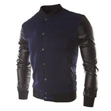 Fashion Mens Baseball Varsity Jacket Sweater Tops Coat Warm Sports