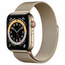 *SALE* Apple Watch Series 6 44mm Gold Stainless Steel Gold Milanese Loop R