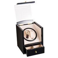 Watch Winder Storage Auto Display Case Box  Automatic Rotation Leather