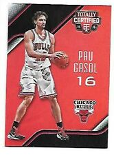 PAU GASOL   2015-16 TOTALLY CERTIFIED MIRROR RED #55  SERIAL #4/149