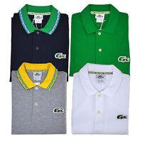 Lacoste Polo Shirt Classic Mens Pique Mesh Brazil Crocodile Short Sleeve