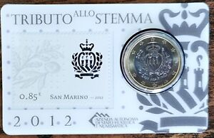 Coincard 1 euro + Timbre 0,85€ tributo allo stemma SAINT MARIN 2012 coin-card