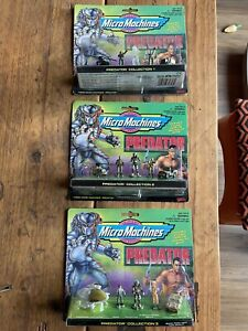 Rare Micro Machines Predator All Three Complete Sets Galoob Alien Aliens 3