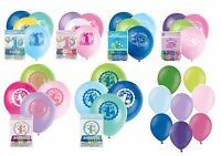 1st Birthday Balloons Plain Latex Party Decoration Boy Girl Air Helium Pink Blue