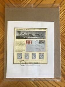 HAWAIIAN MISSIONARY 37c STAMP SHEET 2002 PLUS FIRST DAY OF ISSUE