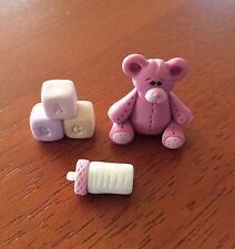 MINIATURE HANDMADE POLYMER CLAY BABY DOLL Accessories