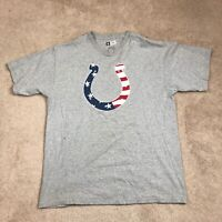 Indianapolis Colts NFL Team Apparel Adult large Grey Short Sleeve Mens Shirt