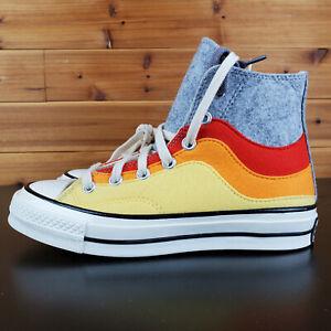Converse Chuck 70 Hi 169518c Storm Front/Yellow Cream Men's Shoes Sz 8