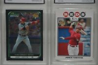 2 JOEY VOTTO ROOKIE CARDS: 2008 TOPPS & BOWMAN CHROME BOTH GRADED 10 + 3 OTHERS