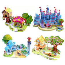 3D Paper Puzzle DIY Building Model  Dollhouse Style House Jigsaw Puzzle Kid Toys
