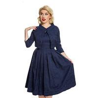 Lindy Bop 'Marianne' BNWT Brocade Swing Dress & Crop Jacket - Plus Size 20 & 22