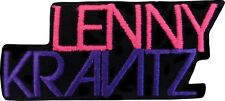 9355 Lenny Kravitz Pink & Purple Logo Rock 90s Embroidered Sew Iron On Patch