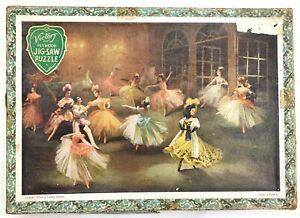 Vintage Victory Ballerina Plywood Jigsaw Vilia Carlotta Edwards Margot Fonteyn