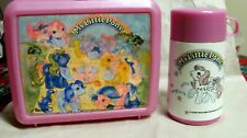 VINTAGE 1987 MY LITTLE PONY ALADDIN LUNCH BOX PINK W/ ORIGINAL THERMOS COMPLETE