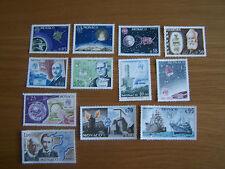 MONACO,1965 CENT OF ITU,12 VALS,U/MINT, CAT £14, EXCELLENT.